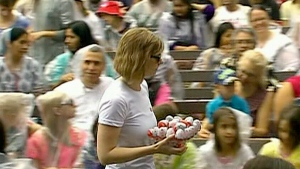 Hundreds of Kinder eggs unwrapped in world record