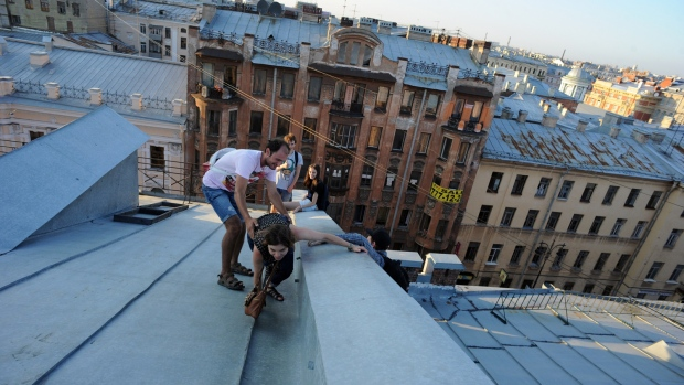 Exploring St. Petersburg's roofs