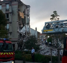 Paris Building Destroyed