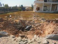 Damage outside U.S. embassy in Tripoli, Libya