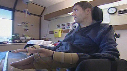Stewart Midwinter was in a paragliding crash last August and suffered a serious spinal cord injury.