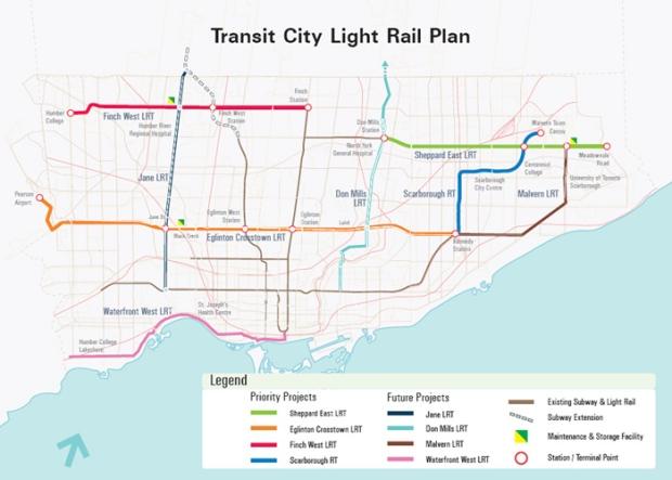 Toronto City Map With Subway Stations