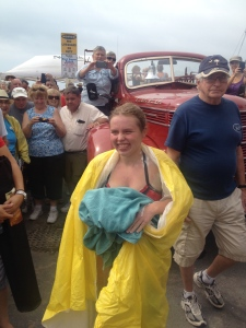 Annaleise Carr finishes Lake Erie swim