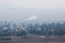 Fighting in Syria Golan heights