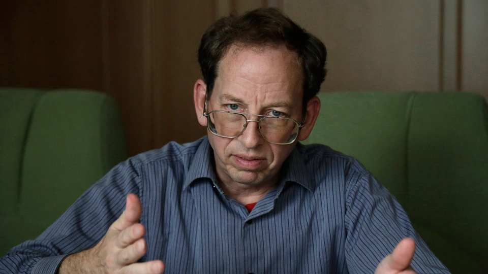 Jeffrey Fowle, an American detained in North Korea, speaks to the Associated Press in Pyongyang, North Korea on Monday, Sept. 1, 2014. (AP / Wong Maye-E)