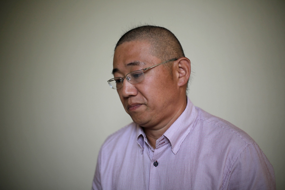 Kenneth Bae, an American tour guide and missionary serving a 15-year sentence, detained in North Korea, speaks to the Associated Press in Pyongyang, North Korea, Monday, Sept. 1, 2014. (AP / Wong Maye-E)