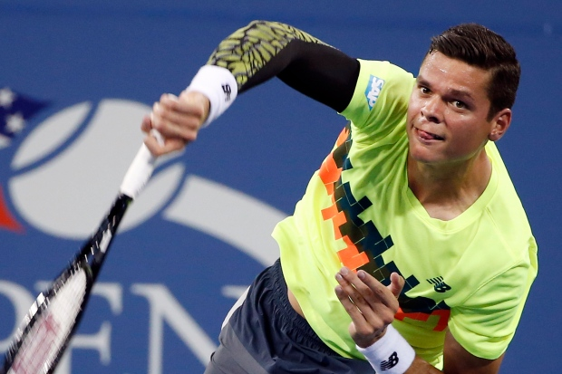 Milos Raonic ousted in U.S. Open
