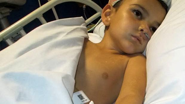 Ashya King in hospital