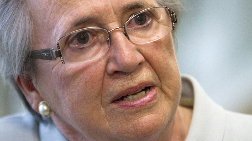 Former Quebec lieutenant governor Lise Thibault in Quebec City on Monday, July 28, 2014. (THE CANADIAN PRESS / Clement Allard)
