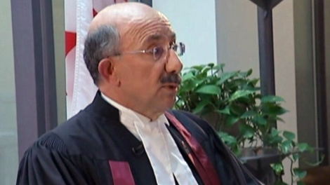 This image taken from video, shows Aris Babikian, the judge who presided over a citizenship reaffirmation ceremony broadcast on the Sun News network in October 2011.