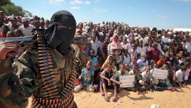 Al-Shabab rally near Mogadishu, Somalia