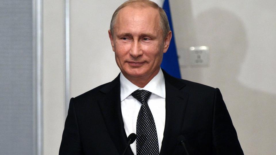 Russian President Vladimir Putin speaks to the media in Ulan Bator, Mongolia, Wednesday, Sept. 3, 2014. (RIA Novosti / Alexei Nikolsky, Presidential Press Service)