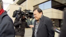 David Ho, 60, is seen leaving Vancouver Provincial Court after being sentenced to community service for forcibly confining a prostitute in his home. Feb. 2, 2012. (CTV)