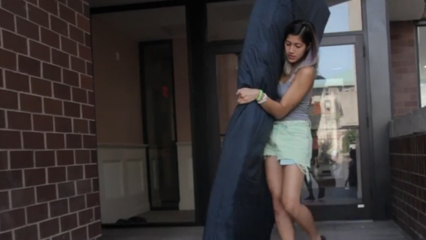 U.S. student protests alleged rapist