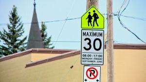 School zone Saskatoon