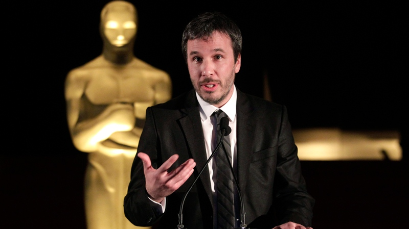 Denis Villeneuve, a Canadian director of the Oscar-nominated foreign language film 'Incendies,' speaks during the Foreign Language Award Directors reception in Beverly Hills, Calif., Friday, Feb. 25, 2011. (AP / Jae C. Hong)