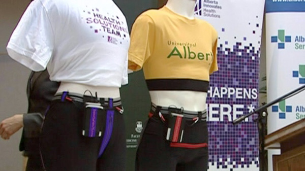 A pair of Smart-e-Pants is seen on display