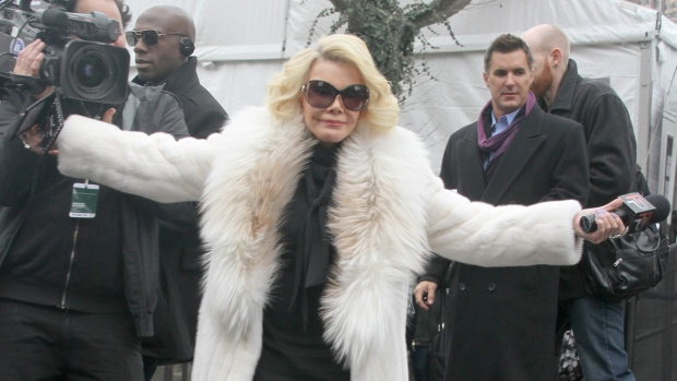 Joan Rivers taping 'Fashion Police'