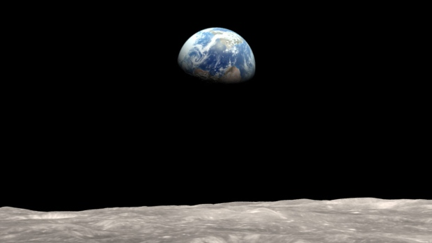NASA illustration of Earth as seen from the moon