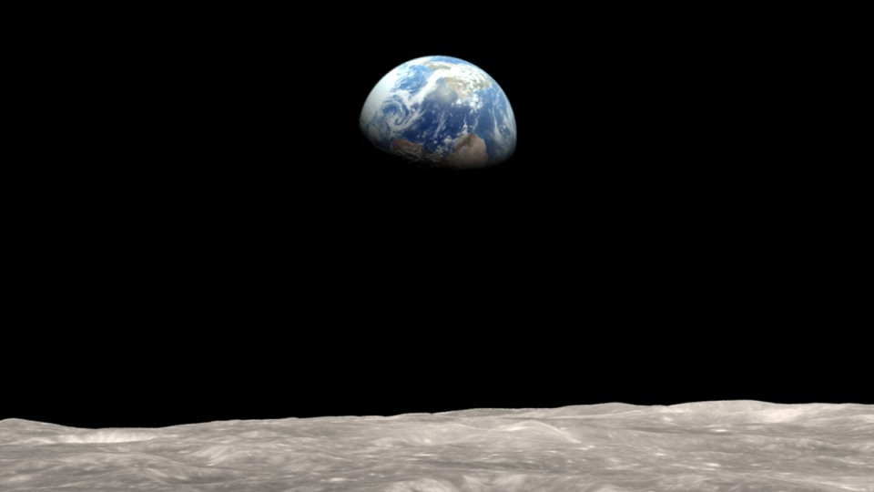 Illustration of Earth as seen from the moon. (AP / NASA Goddard/Rex)