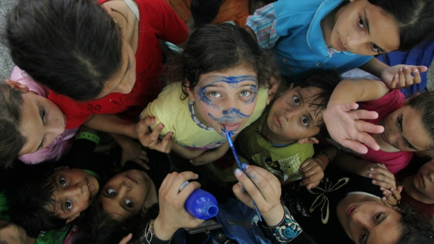 Children in Jabalia, Gaza