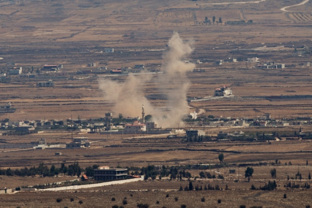 An explosion in Syria's Quneitra province