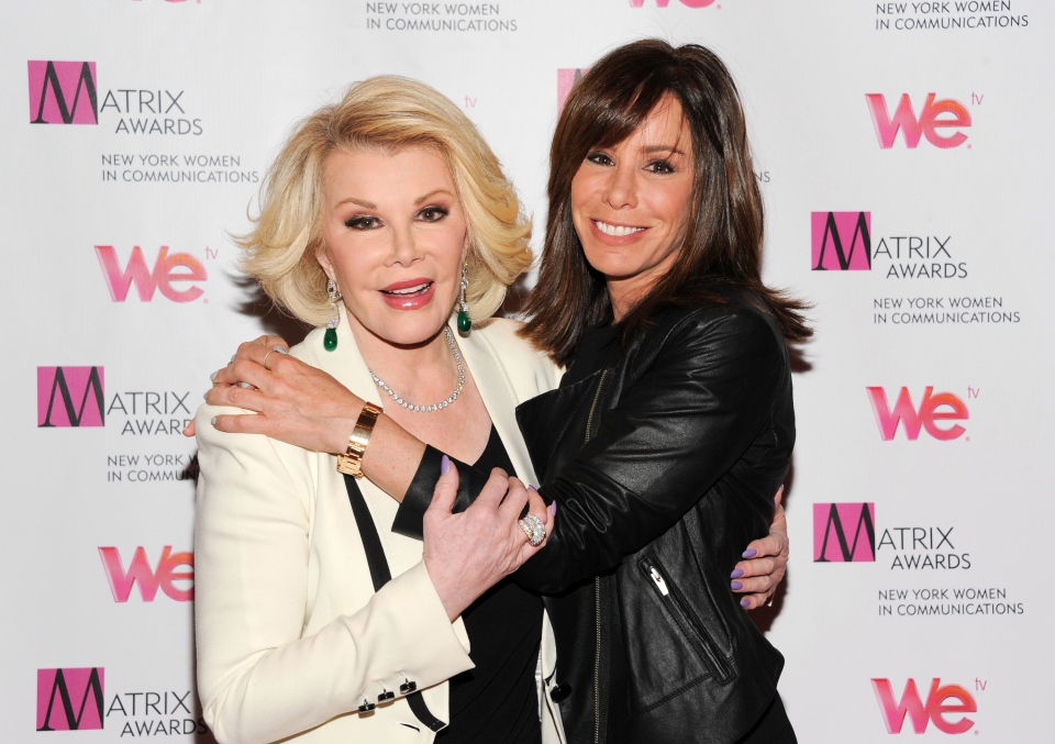 Joan Rivers, left, and daughter Melissa Rivers attend the 2013 Matrix New York on April 22, 2013. (Evan Agostini / Invision)