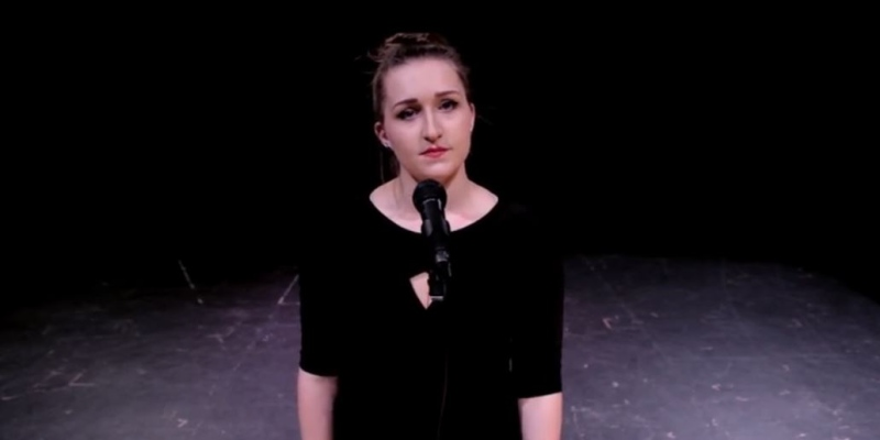 Singer-songwriter Jessica Alex is seen in this image taken from the 'Do you know what bullying is?' video on YouTube.