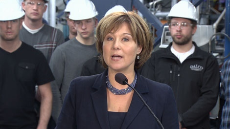 B.C. Premier Christy Clark announces plans to build three liquefied natural gas plants in the province by 2020. Feb. 3, 2012. (CTV)