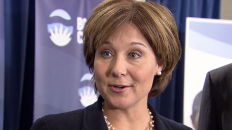 Premier Christy Clark has backed Laurie Throness, the new BC Liberal candidate for the Chilliwack-Hope constituency. Feb. 4, 2012. (CTV)