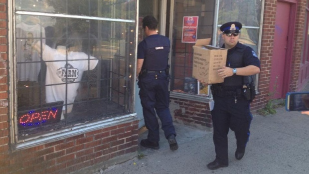 Halifax Regional Police conduct a search at the Farm Assists Cannabis Resource Centre on Sept. 5, 2014. (CTV Atlantic)