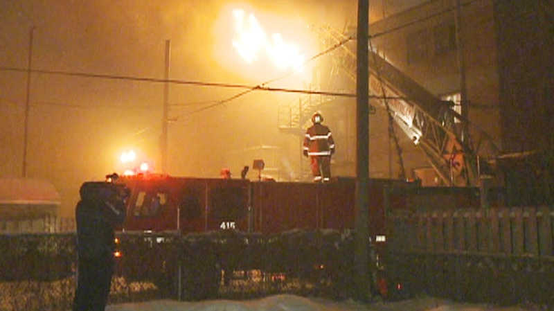 The fire hit the six-unit apartment building on a quiet street in Point St. Charles overnight.