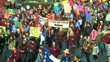 First Nations protest pipeline