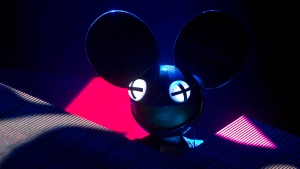 Canada's DJ Joel Thomas Zimmerman, known as 'DeadMau5,' performs at the Corona Capital music festival in Mexico City, Saturday, Oct. 12, 2013. (AP / Christian Palma)