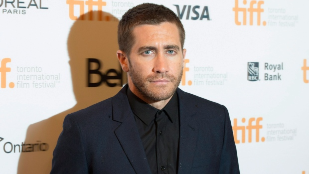 Actor Jake Gyllenhaal poses at the gala for the film 'Nightcrawler' during the 2014 Toronto International Film Festival in Toronto on Friday, September 5, 2014. ( Darren Calabrese / THE CANADIAN PRESS)