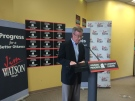 Jim Watson makes his first campaign promise at his campaign headquarters on Somerset St. (CTV Ottawa)