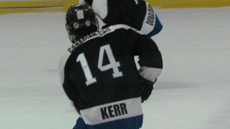 Tyler Kerr died after suffering a cardiac arrest at an Ottawa-area hockey arena on Feb. 6, 2012.