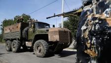 Pro-Russian rebels in Donetsk, Ukraine