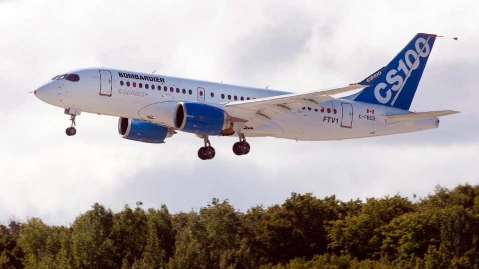 Bombardier's C-Series100 takes off on its maiden test flight at the company's facility Monday, September 16, 2013 in Mirabel, Que. (THE CANADIAN PRESS / Ryan Remiorz)