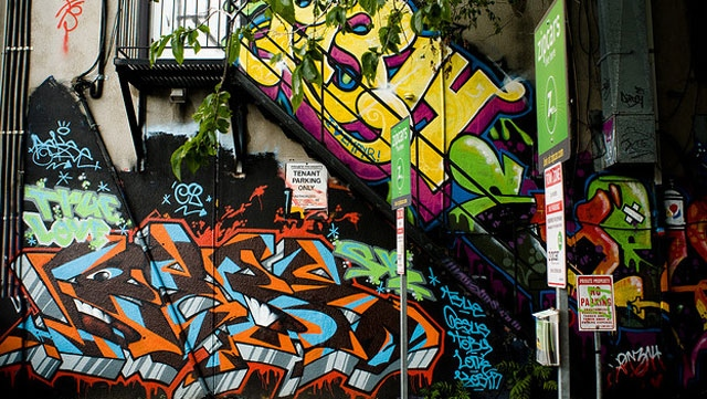 Part of Graffiti Alley near West Queen West in Toronto. (Missy S. / Flickr)