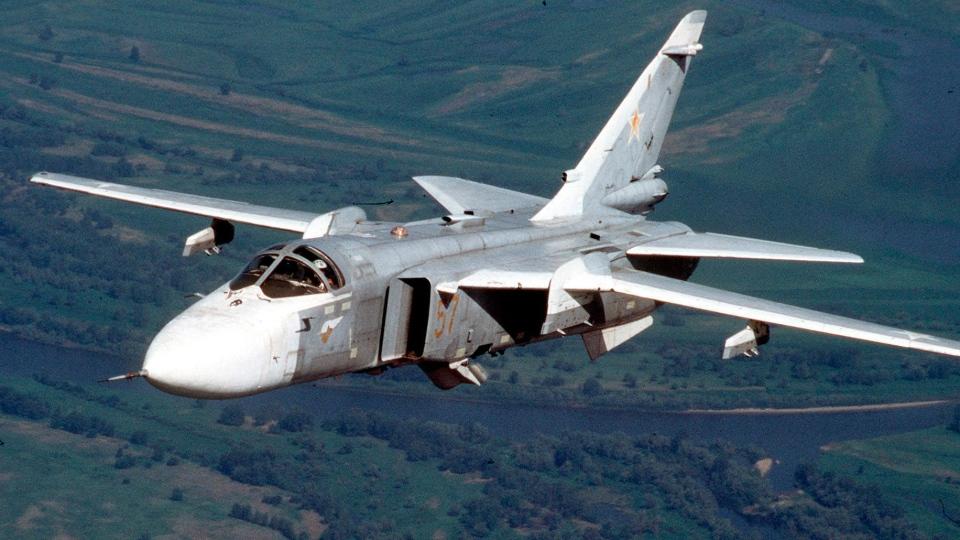 A Russian Su-24 attack aircraft