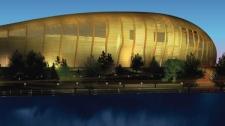 Image of proposed Lansdowne Park stadium design unveiled Feb. 7, 2012.