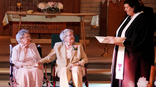 "Wedding of Vivian Boyack and Alice ""Nonie"" Dubes"
