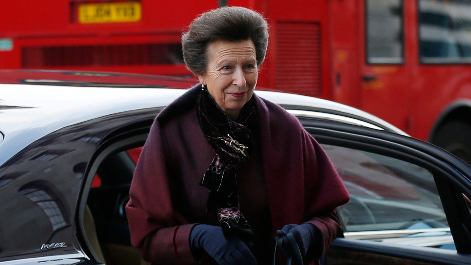 Britain's Princess Anne arrives to pay her respects to Nelson Mandela at the South African High Commission in London, Friday, Dec. 6, 2013. (AP / Sang Tan)