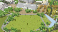 Design of proposed pavillion at Lansdowne Park unveiled Feb. 7, 2012.