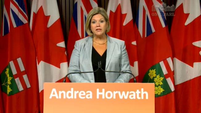 Horwath warns of Ontario 'fire sale'