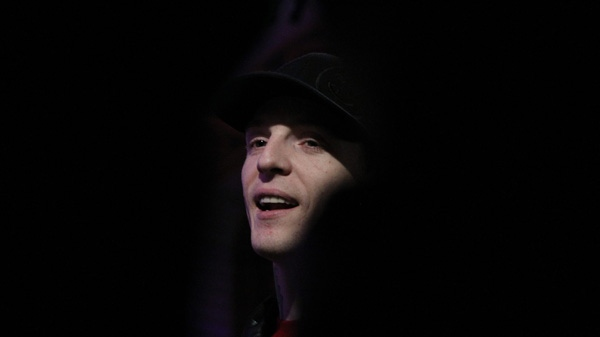 Deadmau5, a.k.a. Joel Zimmerman, attends the Juno Award nominations announcement in Toronto on Tuesday, Feb. 7, 2012. (Chris Young / THE CANADIAN PRESS)