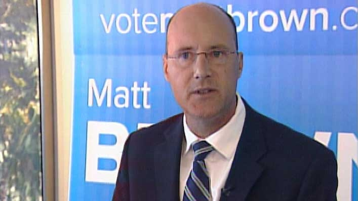 Mayoral candidate Matt Brown unveils his platform in London, Ont. on Wednesday, Sept. 10, 2014. (Daryl Newcombe / CTV London)