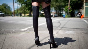 A sex trade worker in Vancouver, B.C., on June, 3, 2014. (THE CANADIAN PRESS / Jonathan Hayward)