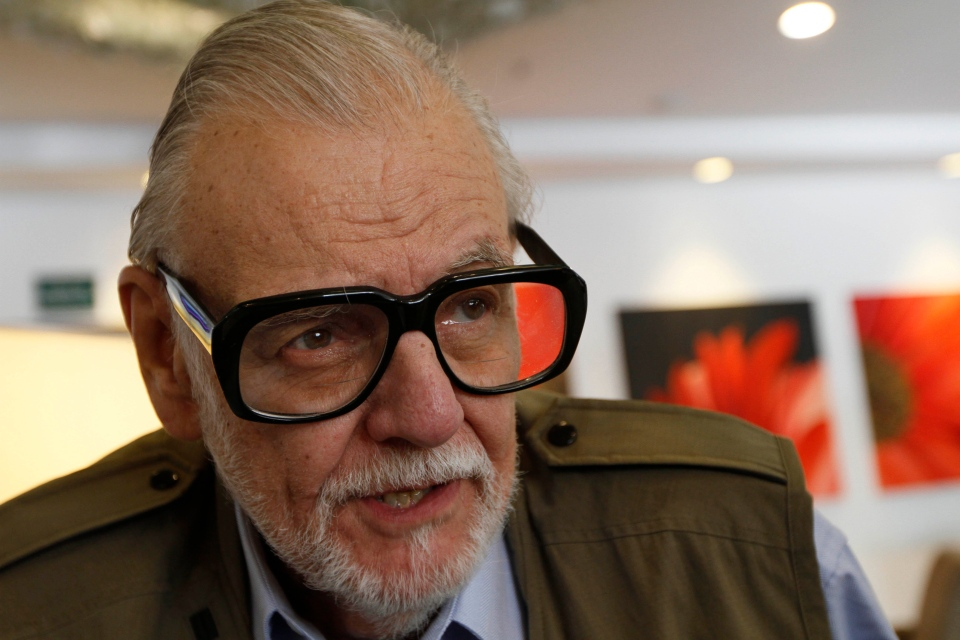 George A. Romero talks during an interview in Mexico City, Friday, Oct. 21, 2011. (AP / Marco Ugarte)